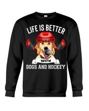 Dogs And Hockey Crewneck Sweatshirt thumbnail