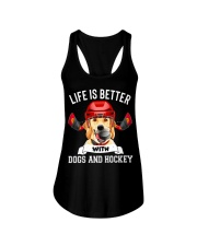 Dogs And Hockey Ladies Flowy Tank thumbnail