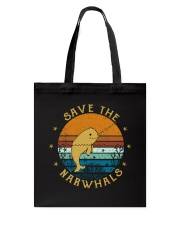 Save The Narwhals Tote Bag thumbnail