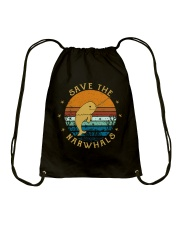 Save The Narwhals Drawstring Bag thumbnail