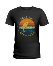Save The Narwhals Ladies T-Shirt thumbnail