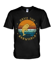 Save The Narwhals V-Neck T-Shirt thumbnail
