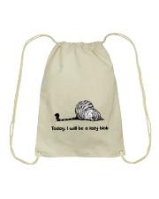 I Will Be A Lazy Blob Drawstring Bag thumbnail