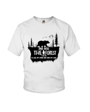And Into The Forest I Go 1 Youth T-Shirt thumbnail