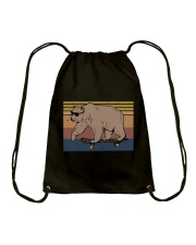 Polar Bear Funny Drawstring Bag thumbnail