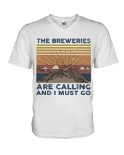 The Breweries Are Calling V-Neck T-Shirt thumbnail