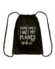I Wet My Plants Drawstring Bag thumbnail