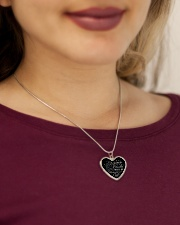You'll Be Remembered Metallic Heart Necklace aos-necklace-heart-metallic-lifestyle-1