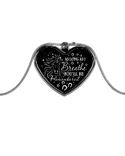 You'll Be Remembered Metallic Heart Necklace front