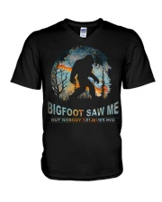 Bigfoot Saw Me V-Neck T-Shirt thumbnail