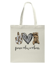 Peace Love Beer Tote Bag thumbnail