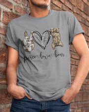 Peace Love Beer Classic T-Shirt apparel-classic-tshirt-lifestyle-26