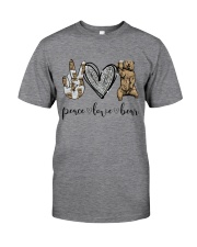 Peace Love Beer Classic T-Shirt front