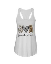 Peace Love Beer Ladies Flowy Tank thumbnail