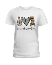 Peace Love Beer Ladies T-Shirt thumbnail