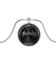 Whisper Words Of Wisdom Metallic Circle Necklace front