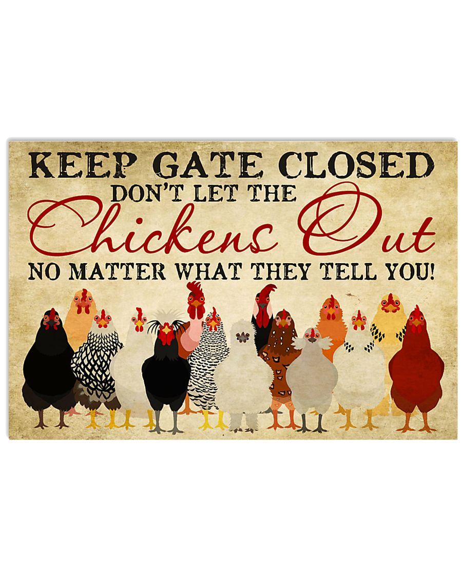 Keep Gate Closed 17x11 Poster