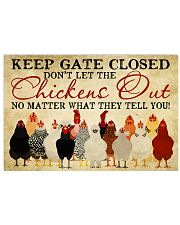 Keep Gate Closed 17x11 Poster front