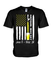 National Beer Day V-Neck T-Shirt thumbnail
