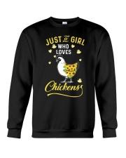Just A Girl Who Loves Chickens Crewneck Sweatshirt thumbnail