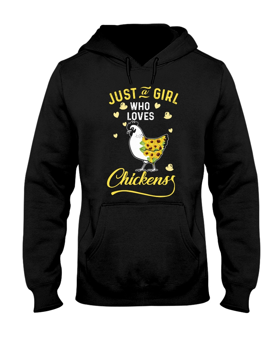 Just A Girl Who Loves Chickens Hooded Sweatshirt
