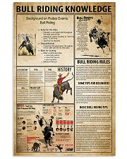 Bull Riding Knowledge 11x17 Poster front