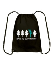 Dare To Be Different Drawstring Bag thumbnail