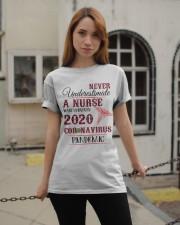 Never Underestimate A Nurse Classic T-Shirt apparel-classic-tshirt-lifestyle-19