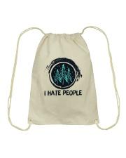 I Hate People Drawstring Bag thumbnail