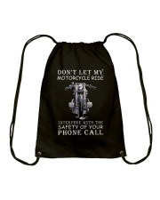 Dont Let My Motorcycle Ride Drawstring Bag tile