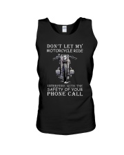 Dont Let My Motorcycle Ride Unisex Tank thumbnail