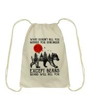 Bear Will Kill You Drawstring Bag thumbnail