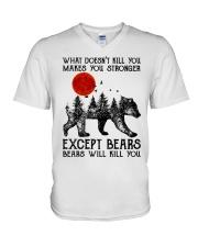 Bear Will Kill You V-Neck T-Shirt thumbnail