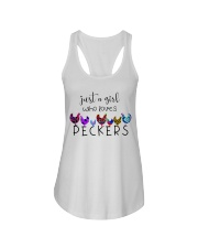 Just A Girl Who Loves Peckers Ladies Flowy Tank thumbnail