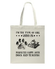 Dogs And Teaching Tote Bag thumbnail