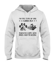 Dogs And Teaching Hooded Sweatshirt thumbnail