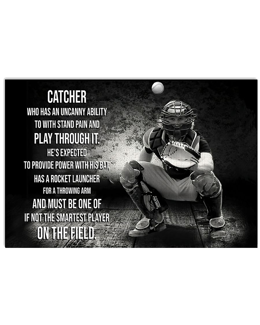 Catcher Who Has An Uncany Ability 17x11 Poster