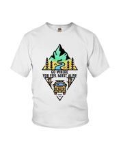 Go Where You Feel Most Alive Youth T-Shirt thumbnail