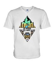 Go Where You Feel Most Alive V-Neck T-Shirt thumbnail