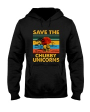 Save The Chubby Unicorn Hooded Sweatshirt front