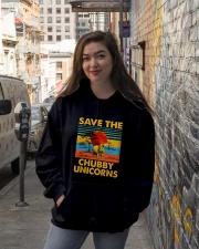 Save The Chubby Unicorn Hooded Sweatshirt lifestyle-unisex-hoodie-front-1