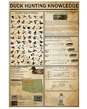 Duck Hunting Knowledge 11x17 Poster front