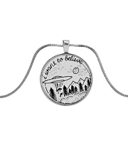 I Want To Believe Metallic Circle Necklace thumbnail