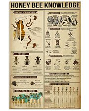 Honey Bee Knowledge 11x17 Poster front