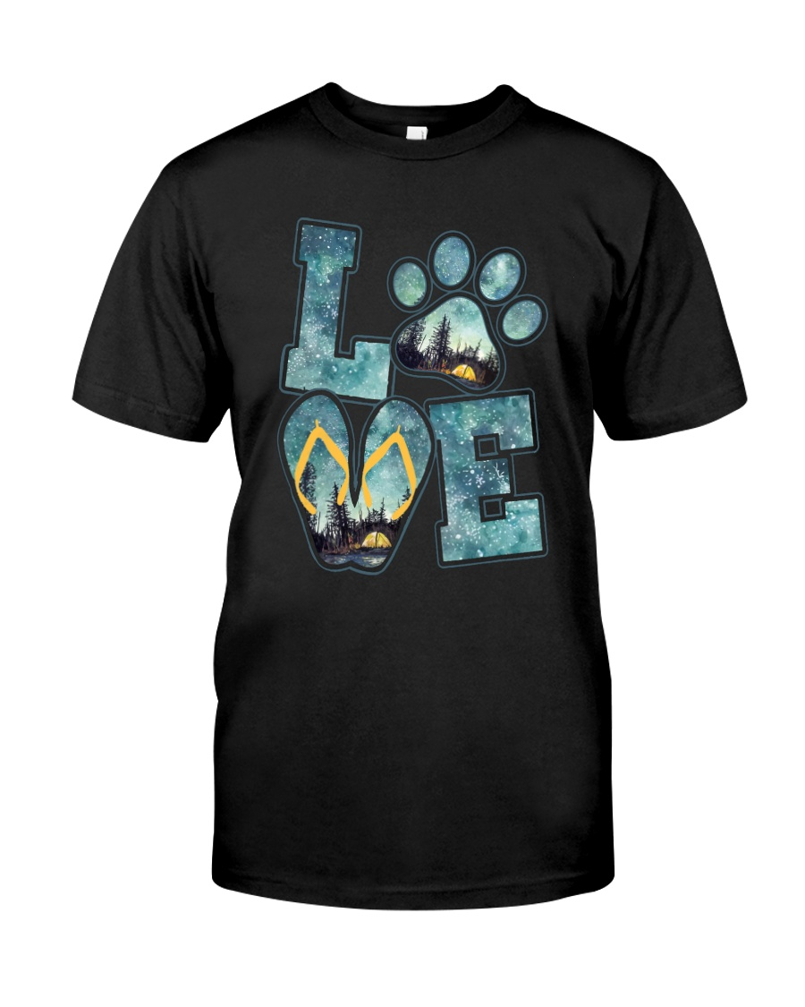 Love Camping And Dog Classic T-Shirt