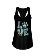 Love Camping And Dog Ladies Flowy Tank thumbnail