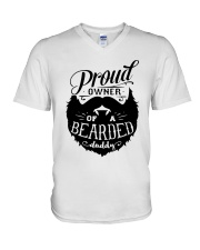 Proud Owner Of A Bearded V-Neck T-Shirt thumbnail