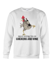 Chickens And Wine Crewneck Sweatshirt thumbnail