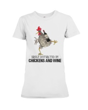 Chickens And Wine Premium Fit Ladies Tee thumbnail