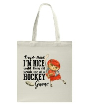 Hockey Game Tote Bag thumbnail